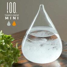 TEMPODROPminiテンポドロップミニ100%ヒャクパーセントストームグラスφ80×110mm硼珪酸ガラス