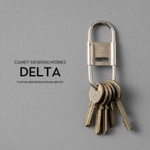 DeltaデルタCANDYDESIGN&WORKSキャンディデザイン&ワークスブラス/ニッケル/ニッケル+ブラス真鍮製キーリングキーホルダーカラビナCHW-08