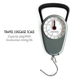 トラベルラゲッジスケール Travel Luggage Scale 35Kg/メジャー1m W9.7×D4.5×H23.5cm シンプル アナログ おしゃれ
