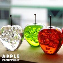 APPLEアップルPaperWeightペーパーウェイトリンゴ林檎オブジェ置き物アクリル【あす楽対応_東海】