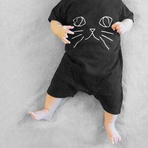 WHO AM I ? Rompers 動物だーれだ?ロンパース サイズ80cm 12ヶ月 おしゃれロンパース 出産祝い ねこ/いぬ/うさぎ ギフトパッケージ入り