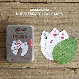 ハックルベリー リーフ カード キッカーランド KIKKERLAND Huckleberry Leaf Cards トランプ 葉っぱ カード
