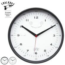 CHALKBOY掛時計BLACK/GRAYφ28.5×2.5cmプラスチック製