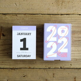 【10月下旬~11月上旬入荷分ご予約受付中】Typodarium 2022 タイポダリウム 日めくりカレンダー フォント font ドイツ 卓上 壁掛け