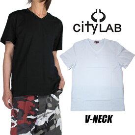 【ネコポス】CITY LAB Tシャツ シティラブ Vネック メンズ レディース USAモデル クルーネック Tシャツ 無地 大きいサイズ ダンス ホワイト 白 ブラック 黒 シティラボ シティーラボ アイスホワイト pr0208v 父の日プレゼント