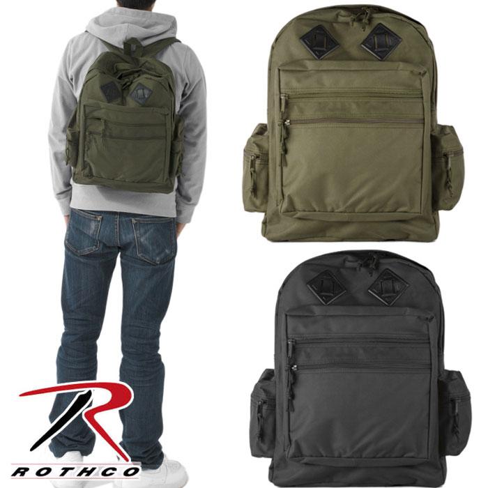 ROTHCO ロスコ リュック DELUXE DAY PACKS デラックス ウォーター レジスタント デイパック(バックパック)2色展開 ブラック/オリーブ/メンズ アメカジ/「20P05Dec15」