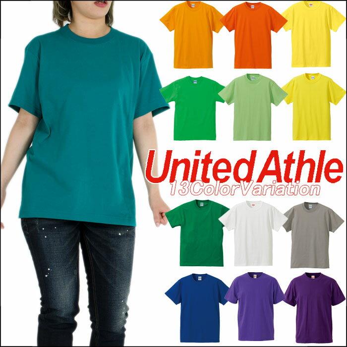 【ネコポス】UNITED ATHLE ユナイテッドアスレ Tシャツ 半袖Tシャツ 無地Tシャツ レディース メンズ アメカジ