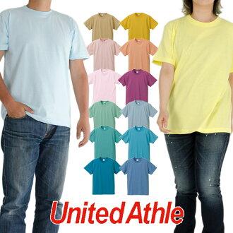 UNITED ATHLE ユナイテッドアスレ T-shirt short sleeves T-shirt plain fabric T-shirt Lady's men American casual