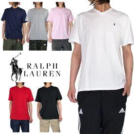 【ボーイズサイズ】ラルフローレン RALPH LAUREN Vネック半袖Tシャツ メンズ レディース 刺繍Tシャツ 小さいサイズ ヒップホップ ダンス ストリート ホワイト 白 ブラック 黒 ネイビー グレー ブルー レッド 赤 父の日 プレゼント
