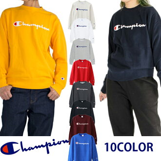 """I present it in champion logo trainer CHAMPION champion pullover sweat shirt basic logo Lady's men """"10% of off"""" Father's Day"""