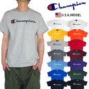 【ネコポス】チャンピオン Tシャツ スクリプト CHAMPION 半袖Tシャツ 袖ロゴ ビッグロゴ Tシャツ レディース メンズ USAモデル 大きい…