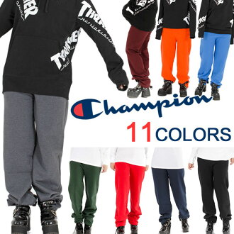 It is a present in champion sweat shirt underwear men gap Dis plain fabric CHAMPION スウェットジョガ-パンツ USA model big size back raised hip-hop dance clothes street XL XXL LL 2L 3L 4L black black gray navy dance fashion Father's Day