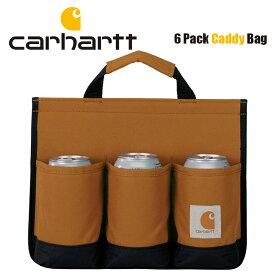 カーハート バッグ CARHARTT 6パックキャディ メンズ レディース 350ML缶 6本 ビール アウトドア BBQ バーベキュー レジャー コンパクト 保冷.保温 父の日 プレゼント