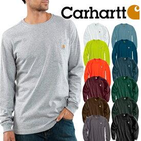 CARHARTT カーハート ワンポイントロンT 胸ポケット付き 長袖Tシャツ Men's Long Sleeve Workwear Pocket T-Shirt メンズ アメカジ 作業服 大きいサイズ 無地 父の日 プレゼント