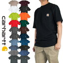 Tシャツ 半袖 メンズ carhartt カーハート ロゴ ワンポイント ポケット ポケット付き k87 クルーネック アメカジ 白 ホワイト 黒 ブラ…