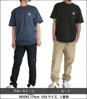 Tシャツ半袖メンズcarharttカーハートロゴワンポイントポケットポケット付きk87クルーネックアメカジ白ホワイト黒ブラックシンプルストリートスケーター大きいサイズおしゃれブランドトップス綿フェスビッグシルエットオーバーサイズビッグサイズ