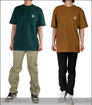Tシャツ半袖メンズcarharttカーハートレディースロゴワンポイントポケットポケット付きk87クルーネックUネックアメカジ白ホワイト黒ブラックシンプルストリートスケーター大きいサイズおしゃれブランドトップス綿フェス新生活