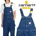 カーハート オーバーオール CARHARTT メンズ レディース作業着 デニム ウォッシュ 大きいサイズ R07 アメカジ ストリート ワークスタイ…