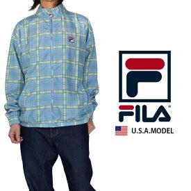 フィラ ウィンドブレーカー FILA ナイロンジャケット メンズ レディース USAモデル チェック 父の日プレゼント