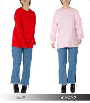 GILDANギルダン長袖Tシャツレディースメンズ無地ロングスリーブTシャツロンTUSAモデル大きいサイズヒップホップダンスストリート黒ブラック赤グレーネイビーブルー青ホワイト白