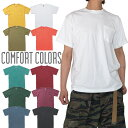 【ネコポス】Comfort Colors 後染め Tシャツ 無地 COMFORT COLORS T-shirts 半袖Tシャツ メンズ ポケット付き USAモデル 大きいサイズ …