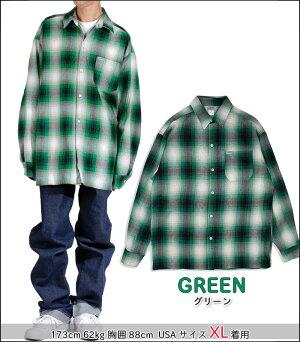 キャルトップCALTOP#2000LSオンブレチェック長袖フランネルシャツメンズS-XXXL米国製アメリカ製新生活ギフト