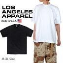 USAコットン LOS ANGELES APPAREL ロサンゼルスアパレル 1807GD 6.5オンス ガーメントダイ 半袖 クルーネックTシャツ MADE IN USA 厚手…