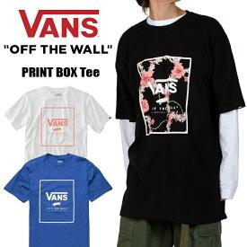 VANS Tシャツ バンズ VANS メンズ レディース BOXロゴ ブラック 黒 白 ホワイト ブルー 青 ヒップホップ ストリート アメカジ 大きいサイズ 父の日 ギフト