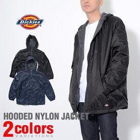 Dickies ディッキーズ NYLON HOODED JACKET ナイロンリップストップジャケット 裏フリース 全2色ダークネイビー S.M.L.XL.2XL メンズ アメカジ 作業服 父の日 プレゼント