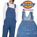ディッキーズ Dickies オーバーオール デニム メンズ USAモデル OVERALL 作業着 仕事着 作業服 ユニフォーム 男性用 レディース 大きい…