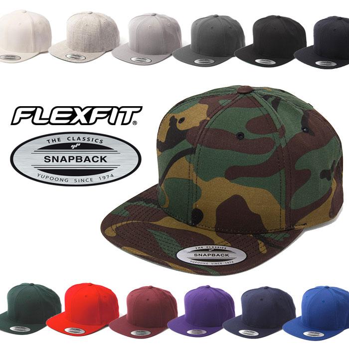 FLEXFIT キャップ フレックスフィット スナップバックキャップ 帽子 ブラック 黒 ネイビー レッド 無地