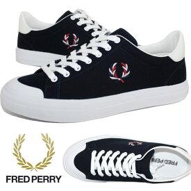 フレットペリー スニーカー FRED PERRY スニーカー ブロー ヴァルカ キャンバス スニーカー BREAUX VULCA CANVAS 靴 シューズ 紺 ネイビー メンズ レディース 父の日プレゼント