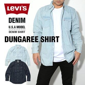 的LEVI'S李維斯西部襯衫粗斜紋布長袖子襯衫人分歧D短袖T恤粗斜紋布襯衫丹葛利襯衫USA模特大的尺寸