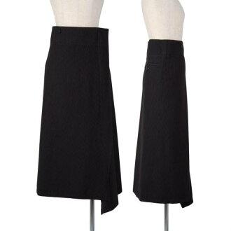 Wise Y's stripe zip wool skirt black 1