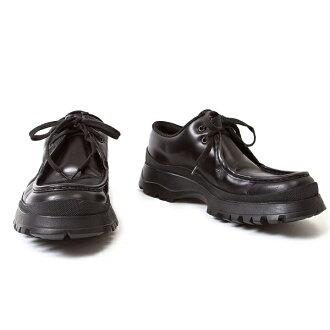 普拉達 (prada) 普拉達 (prada) vibrammocha 皮鞋黑色 7.5