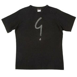 Agnes b.OM agnes b.珠粘貼標誌 T 襯衫黑色 2