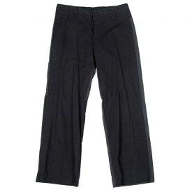 【最終値下げ】ワイズフォーメンY's for men 製品染め切り替えデザインパンツ 黒グレー3【中古】 【メンズ】