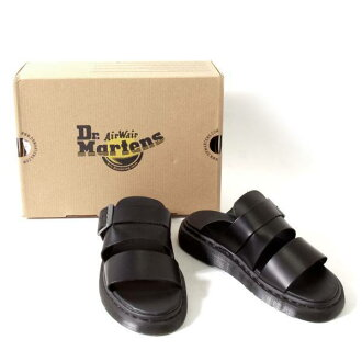 马滕斯博士。 马滕斯布瑞雷德扣滑凉鞋黑色 24.5 (UK6)