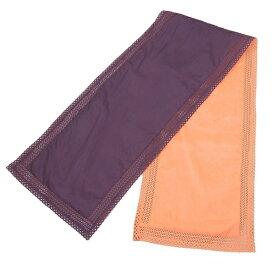 【BIG SALE】イッセイミヤケISSEY MIYAKE ナイロンレースストール 紫オレンジ