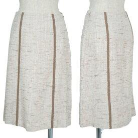 【最終値下げ】ボールジーBALLSEY ツイードタイトスカート 生成36