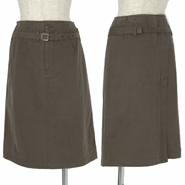 【SALE】ズッカzucca 製品洗いベルトデザインスカート モカ1【レディース】