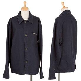 【BIG SALE】マーガレットハウエルMARGARET HOWELL コットンジップポケットジャケット 紺M位