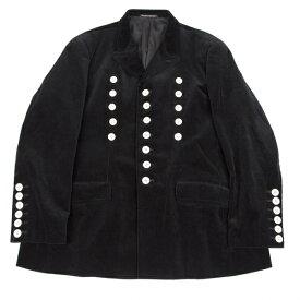 【BIG SALE】ヨウジヤマモト プールオムYohji Yamamoto POUR HOMME 貝ボタン装飾コーデュロイジャケット 黒M