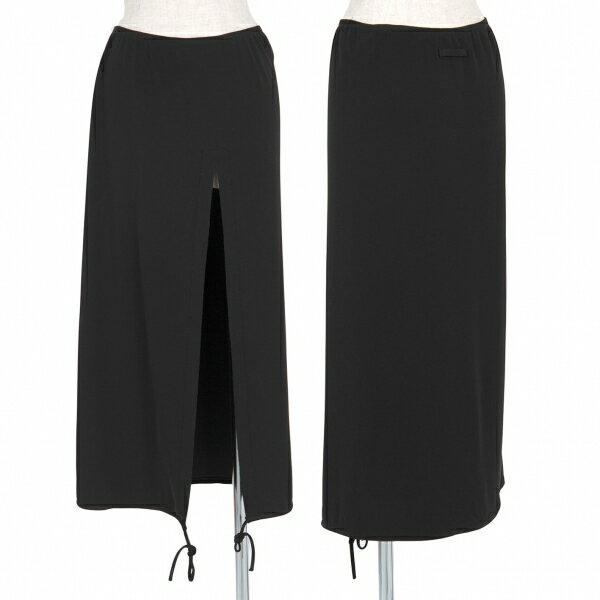 ジャンポールゴルチエ ファムJean Paul GAULTIER FEMME 裁ち切りスリット裾コードスカート 黒40【中古】