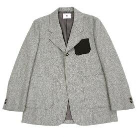 【BIG SALE】ソーイsoe パッチデザインジャケット 杢グレーM位