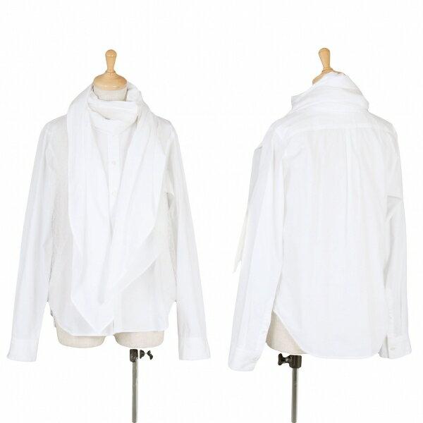 【SALE】ズッカ zucca レースストール長袖ドレスシャツ 白M【レディース】