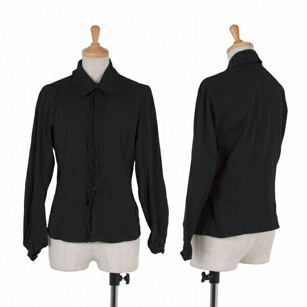 【SALE】ズッカ zucca フリル装飾長袖シャツ 黒M【レディース】