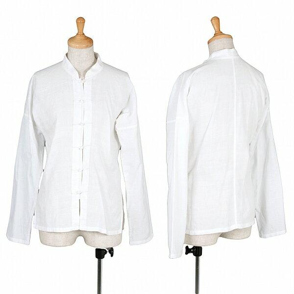 【SALE】ズッカ zucca チャイナボタン洗いコットンシャツ 白M【レディース】