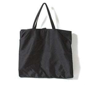 【BIG SALE】ワイズY's ツーフォールドデザインナイロンハンドバッグ 黒