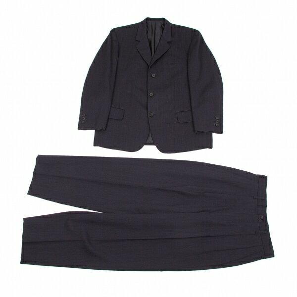 ワイズフォーメンY's for men ウールノッチドラペル3Bセットアップスーツ 紺S【中古】【メンズ】